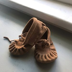 Leather Infant Moccasins